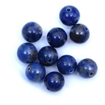 10 perles rondes en lapis lazuli 6 mm