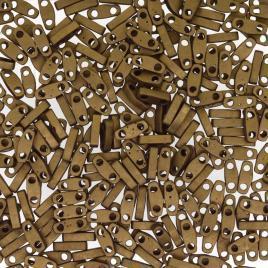 Quarter tila beads matted metallic dk bronze 1